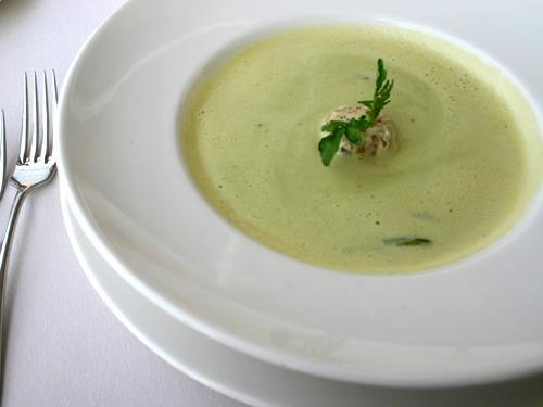 Käse-Lauch-Cremesuppe